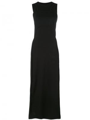 Платье со спинкой-рейсер Y-3. Цвет: чёрный