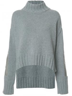 Metallic panel sleeves sweater Sally Lapointe. Цвет: none