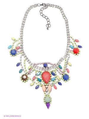 Колье Royal Diamond. Цвет: серебристый, красный, синий, салатовый