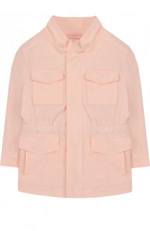Куртка с эластичной вставкой на поясе и воротником-стойкой Loro Piana. Цвет: светло-розовый
