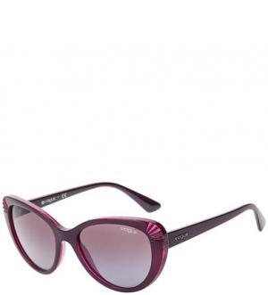 Фиолетовые очки с пластиковой оправой VOGUE. Цвет: фиолетовый