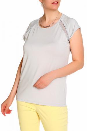 Блуза LAVELLE. Цвет: серый