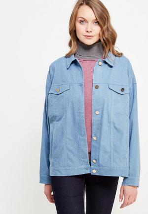 Куртка джинсовая Cauris. Цвет: голубой