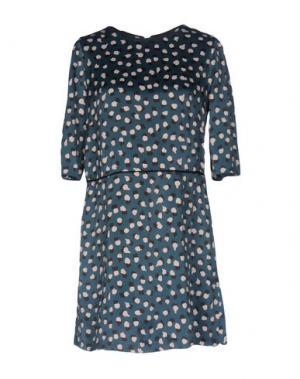Короткое платье SONIA DE NISCO. Цвет: цвет морской волны