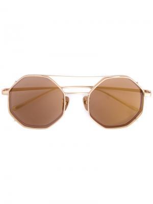 Солнцезащитные очки в двойной оправе Maska. Цвет: коричневый