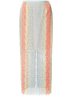 Open weave striped skirt Gabriela Hearst. Цвет: многоцветный