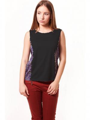 Блузка Formalab. Цвет: черный, темно-фиолетовый