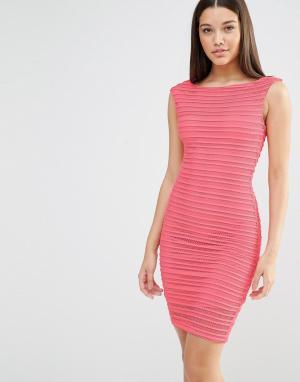 Lipsy Облегающее платье миди. Цвет: красный