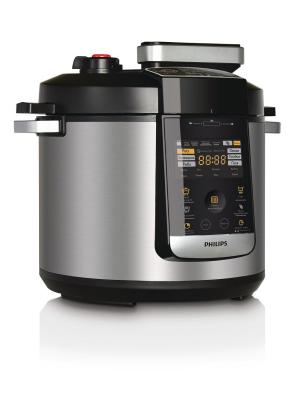 Мультиварка-скороварка Philips HD2178/03 6 л. Цвет: черный, серебристый