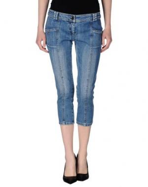 Джинсовые брюки-капри GERMANO ZAMA. Цвет: синий