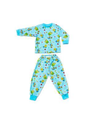 Пижама интерлок Агат. Цвет: голубой