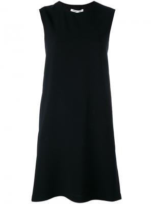 Платье-шифт без рукавов Helmut Lang. Цвет: чёрный