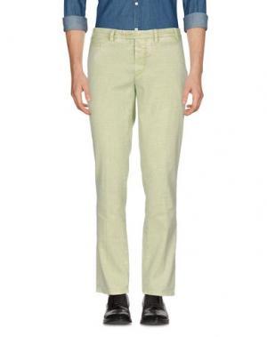 Повседневные брюки PIATTO. Цвет: светло-зеленый