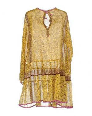 Короткое платье POUPETTE ST BARTH. Цвет: желтый
