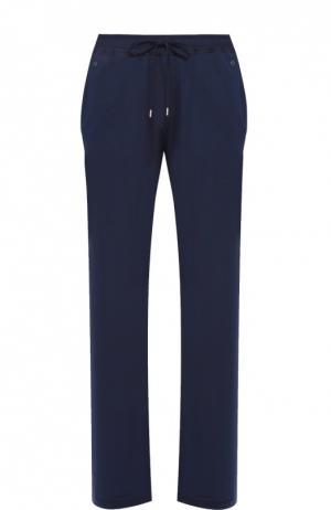 Домашние брюки свободного кроя Hanro. Цвет: темно-синий