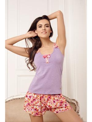 Пижама Laete. Цвет: сиреневый