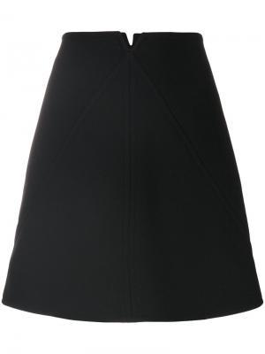 Мини-юбка А-образного силуэта Courrèges. Цвет: чёрный