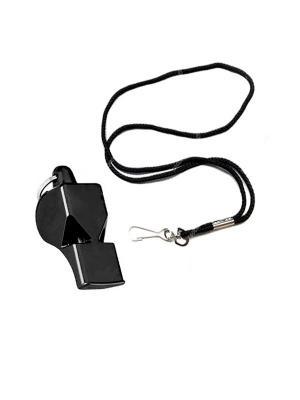 Свисток тренерский на шнурке MAD GUY (пластик). Цвет: черный