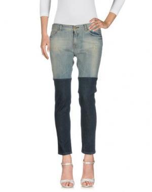 Джинсовые брюки EACH X OTHER. Цвет: синий