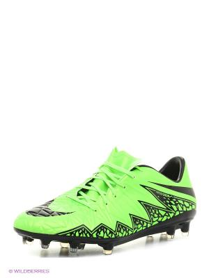 Бутсы HYPERVENOM PHATAL II FG Nike. Цвет: зеленый, черный
