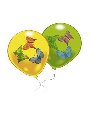 8 шариков с рисунком Бабочки Everts. Цвет: салатовый