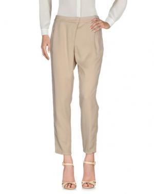 Повседневные брюки LA FILERIA. Цвет: песочный