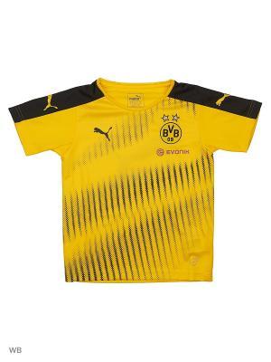 Футболка BVB Stadium Jersey Puma. Цвет: желтый