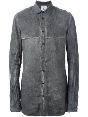 Рубашка с мятым эффектом Lost & Found Rooms. Цвет: серый