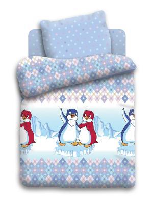 Комплект постельного белья Детский бязь Лоло и Пепе Союзмультфильм. Цвет: голубой, синий