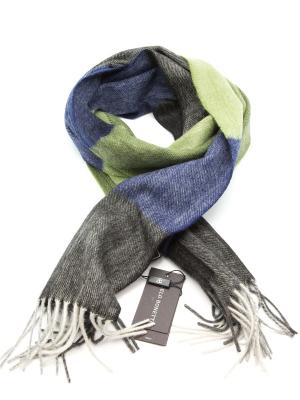 Шарф Angelo Bonetti. Цвет: синий, темно-серый