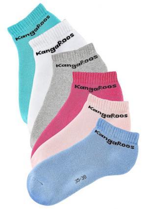Носки, 6 пар. Цвет: 6x черный, белый+розовый+ярко-розовый+мятный+синий+серый