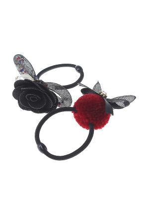 Резинка для волос (Комплект - 2 шт.) Infiniti. Цвет: черный, красный