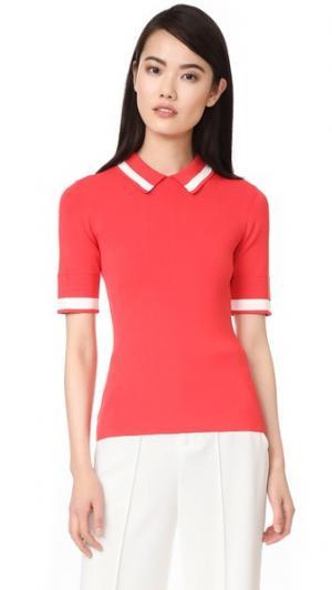 Трикотажная рубашка-поло Grey Jason Wu. Цвет: кадмиевый красный