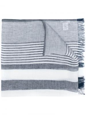 Полосатый шарф Dondup. Цвет: белый