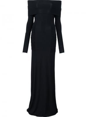 Платье Off the Shoulder Yigal Azrouel. Цвет: чёрный