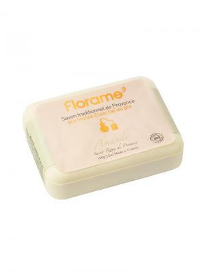 Florame Мыло  Миндаль , Полимерная Упаковка 100 Г. Цвет: желтый