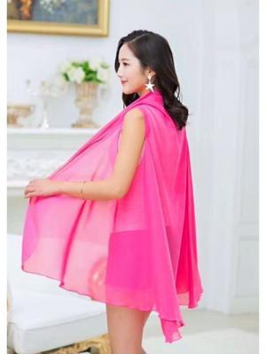 Парео-накидка размер 120Х190 см. City Flash. Цвет: розовый