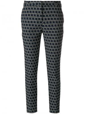 Slim-fit woven circle trousers Kiltie. Цвет: синий