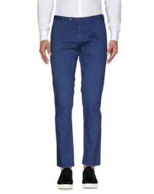 Повседневные брюки ONE SEVEN TWO. Цвет: синий