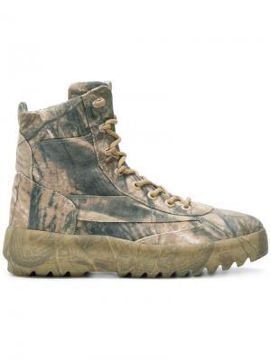 Ботинки в стиле милитари Season 5 Yeezy. Цвет: зелёный