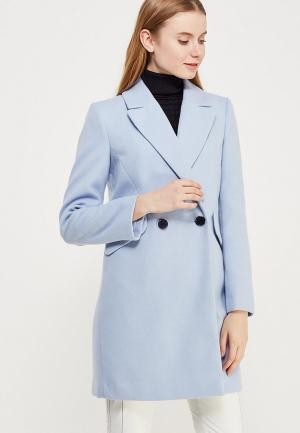 Пальто Miss Selfridge. Цвет: голубой
