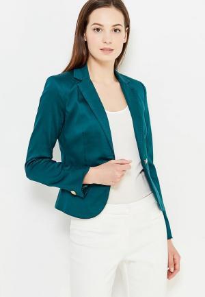 Пиджак oodji. Цвет: зеленый