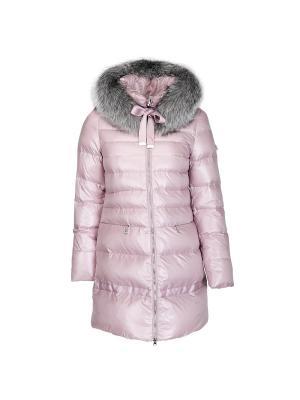 Пальто Snow Guard. Цвет: розовый