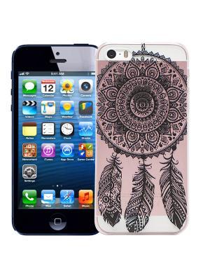 Чехол для iPhone 5/5s Мехенди Ловец снов (черный) Kawaii Factory. Цвет: черный, розовый