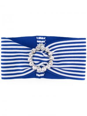 Striped headband Alessandra Rich. Цвет: синий