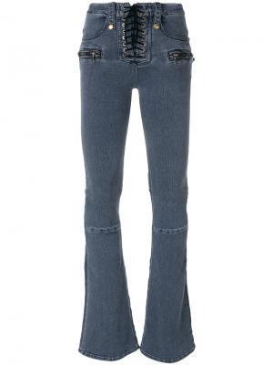 Расклешенные джинсы Unravel Project. Цвет: синий