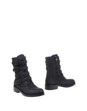 Полусапоги и высокие ботинки ALBERTO GOZZI. Цвет: черный