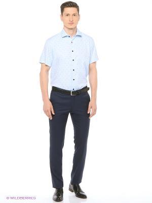 Рубашка мужская с коротким рукавом Mr. Marten. Цвет: голубой