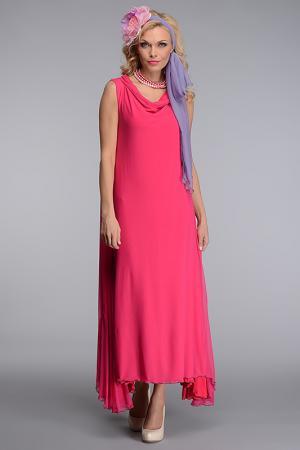 Платье с бусами Kata Binska. Цвет: фуксия
