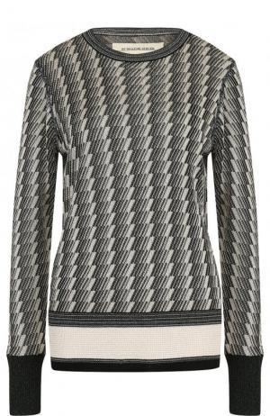 Пуловер из вискозы с круглым вырезом By Malene Birger. Цвет: бежевый